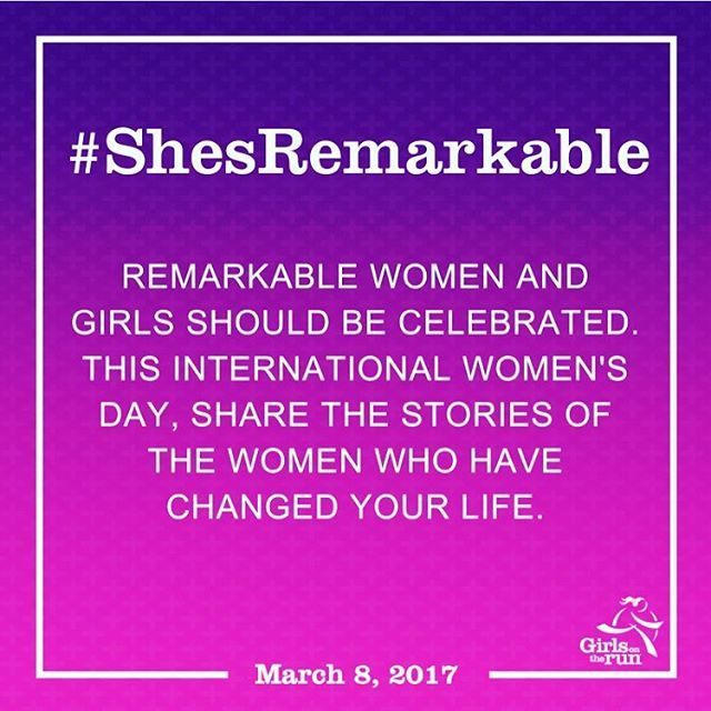 It's #internationalwomensday and we're featuring @girlsontheruninternational  Celebrate the bold & beautiful women who have motivated you to be your best, most-authentic self. #ShesRemarkable   Dedicate your miles and show your support to women everywhere!