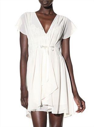 Oscar de la Renta Women's Special Occasion Sheer Robe (Oyster)