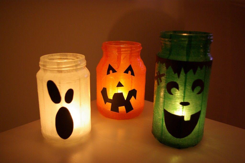 halloween special gruselige windlichter k rbis geist frankenstein anleitung mit kerzen. Black Bedroom Furniture Sets. Home Design Ideas