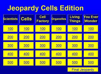 The Best Cell Jeopardy Game  Cell Theory School Levels And