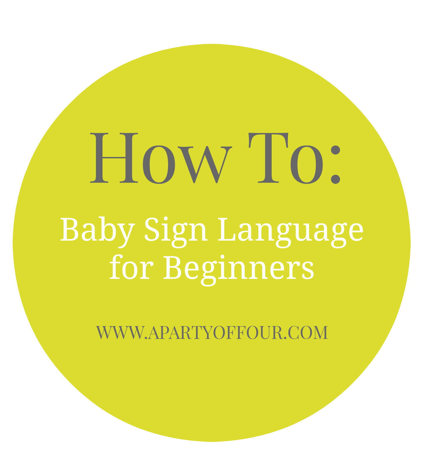 How To Baby Sign Language