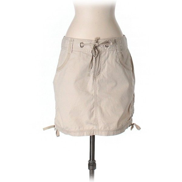 Pre-owned The North Face Casual Skirt (980 PHP) ❤ liked on Polyvore featuring skirts, tan, the north face, pink skirt and tan skirt
