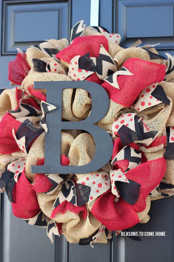 University of South Carolina Burlap Wreath