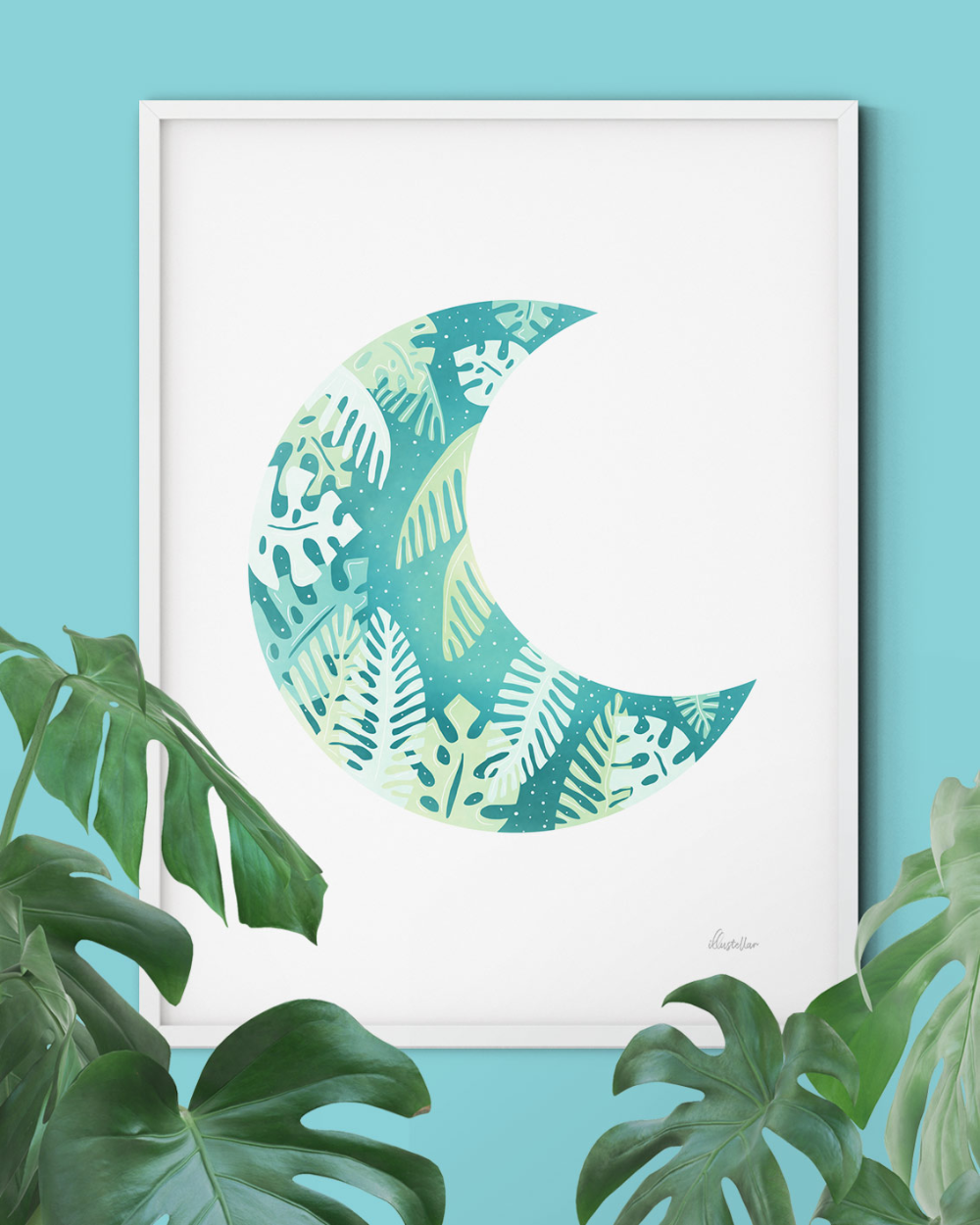 Photo of Tropical Moon • Art Print – illustellar