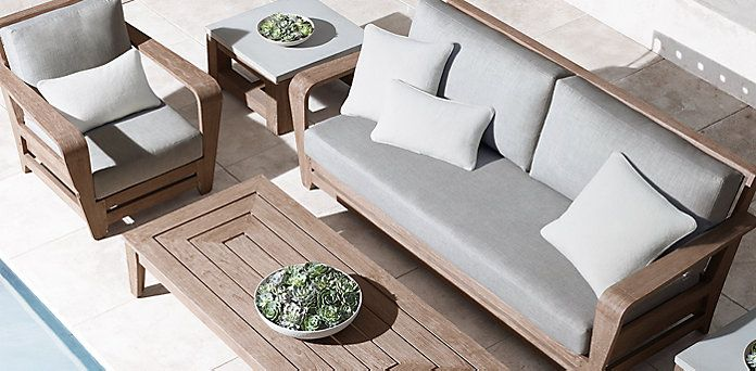 Cannes Collection- Weathered Grey Teak (Outdoor Furniture CG) | RH ...