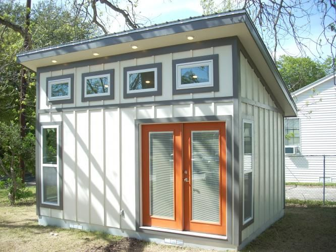 Garden shed with slant roof harper architectural design for Cheap garden office buildings
