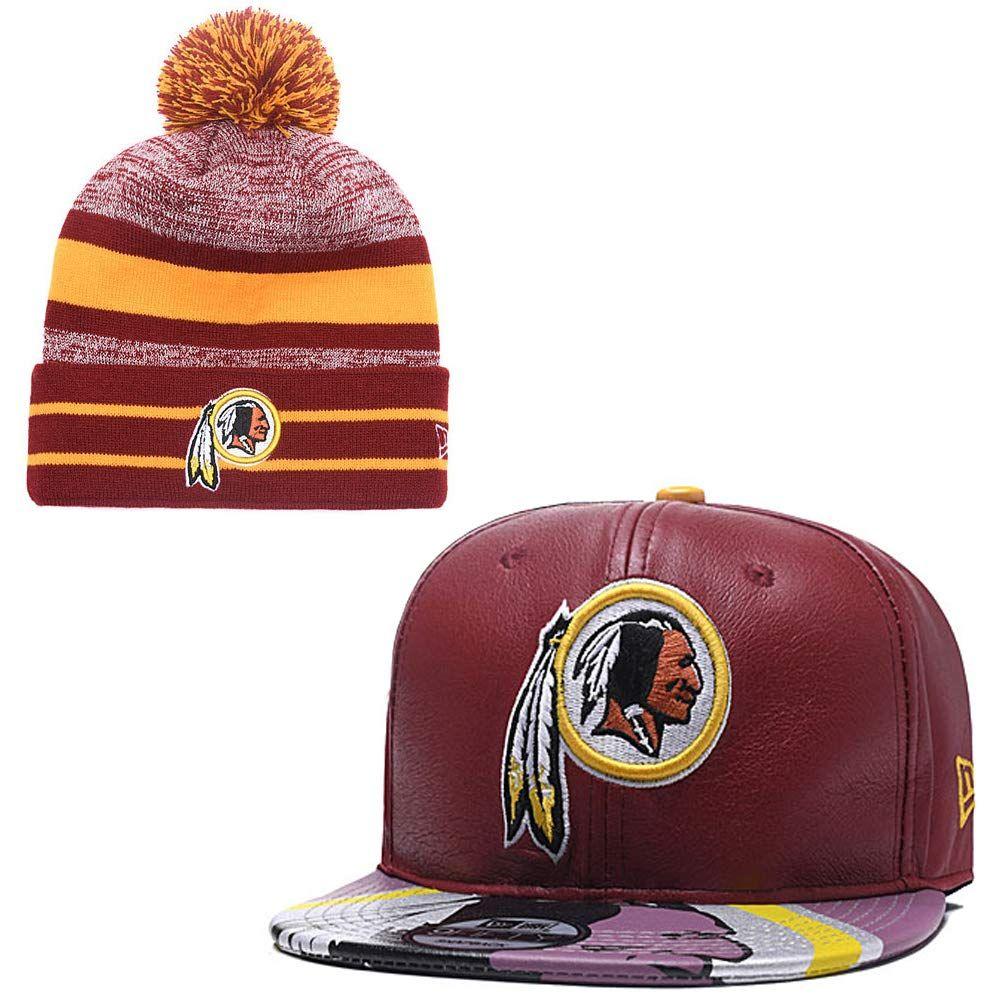 f76fee59cd7cae NFL Washington Redskins Cuffed Knit Hat With Pom Pom by '47 Brand, $34.99   Washington  Redskins Caps & Hats   Hats, Knitted hats, Caps hats