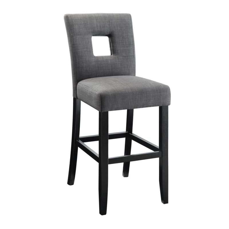 106676 By Coaster Cuccino With Grey Fabric Bar Stool