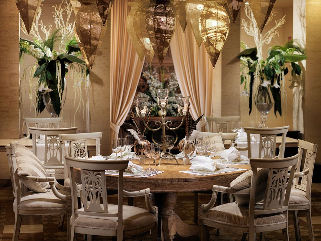 Dinner set-up at Restaurant Jardin at Royal Garden Villas luxury ...