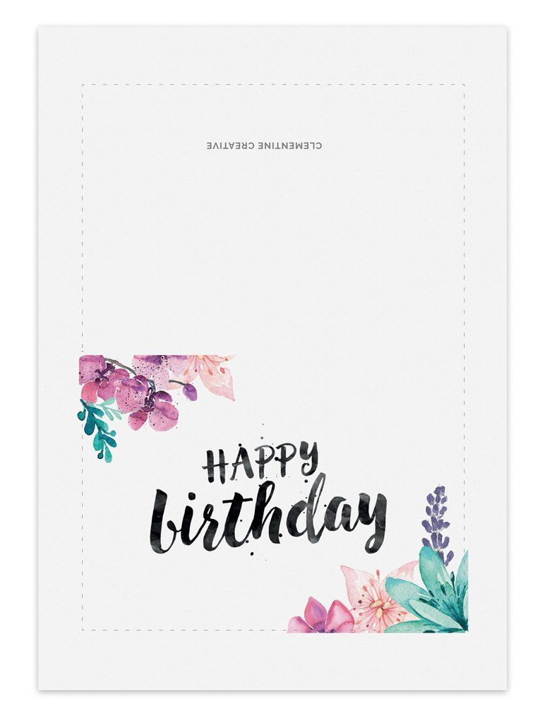 Printable Birthday Card Secret Garden Happy Birthday Cards Printable Free Printable Birthday Cards Birthday Card Template Free
