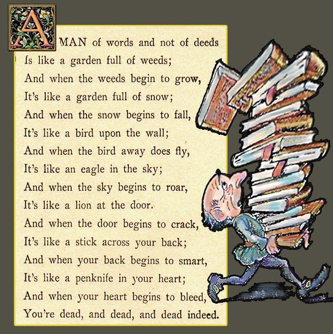 a man of words fables fairy tales stories nursery rhymes nursery rhyme from the elizabethan era