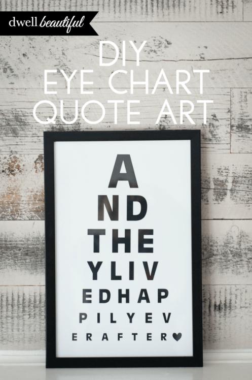 Diy Eye Chart Quote Art