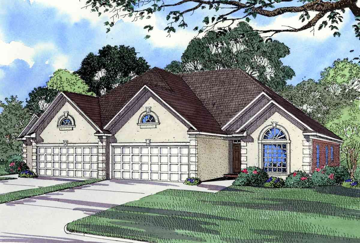 Plan 59330nd In 2020 Mediterranean Style House Plans Duplex Plans Duplex House Plans