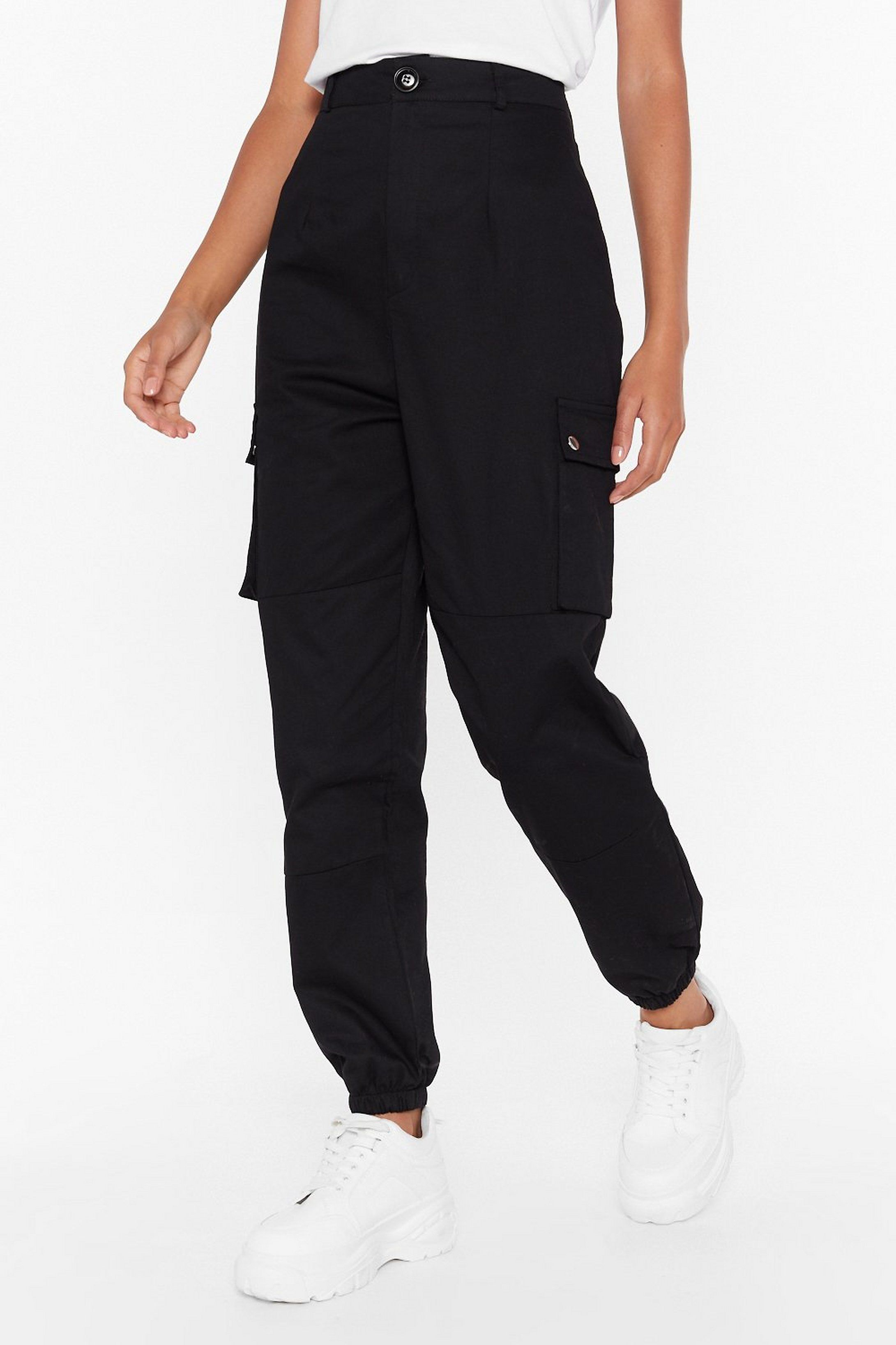 High-Waisted Utility Pants with Zip Closure | Nast