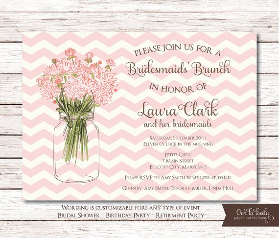 Bridal Shower Invitation, Birthday Invite, Retirement