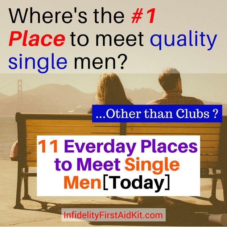 Places to meet men over 40