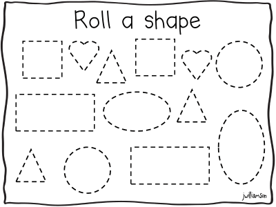 Welcome to Room 36!: roll a shape | Teaching-Math | Pinterest