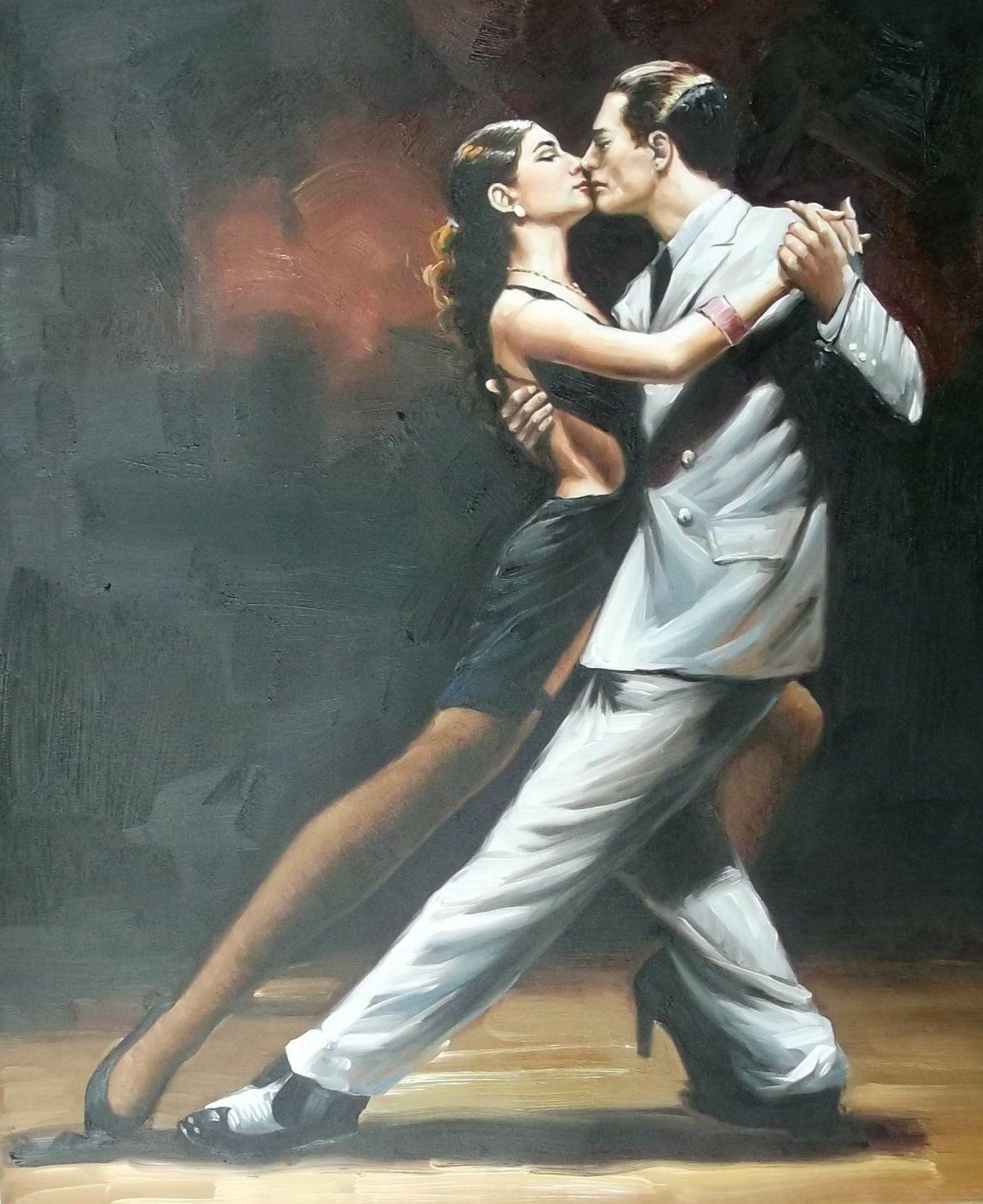 Картинки девушка танцует танго одна