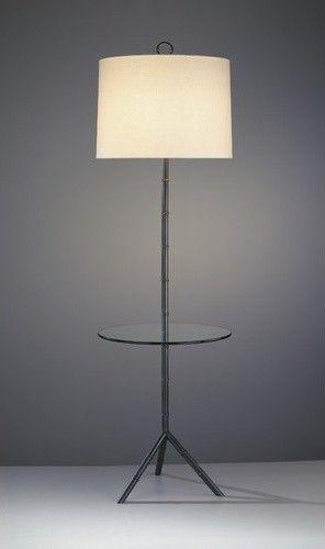 Jonathan Adler Meurice Floor Lamp With Tray Table In Deep Patina Bronze  Modern Floor Lamps
