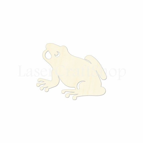 Silhouette Tags Ornaments Laser Cut #2056 Frog Wooden Cutout Shape