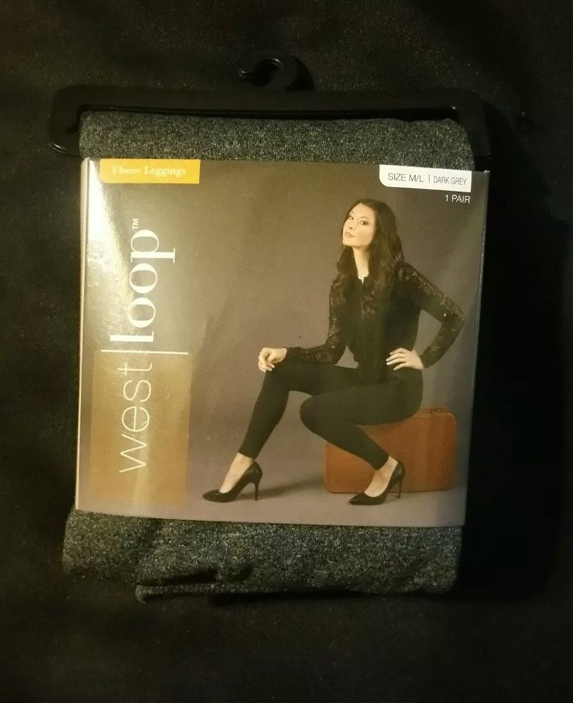 8e58d6109e550 West Loop Fleece Leggings Dark Grey Size M / L #fashion #clothing #shoes  #accessories #womensclothing #leggings (ebay link)