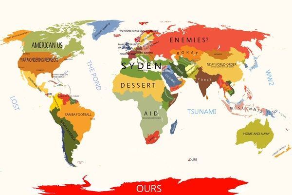 World According To Norway Map Funny Maps World