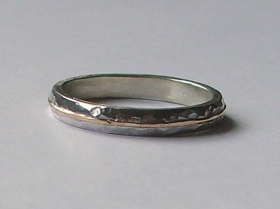 Picture of Silver and gold ring