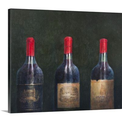Canvas On Demand Three Great Clarets, 2014 by Lincoln Seligman Painting Print on Canvas