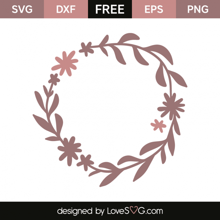Flowers wreath Flower svg files, Flower svg, Free svg