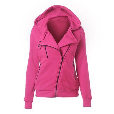 Winter Autumn Women Casual Hoodie Hooded Sweatshirt Outwear Slim Hoodie Ladies Zipper Tops S-XXL
