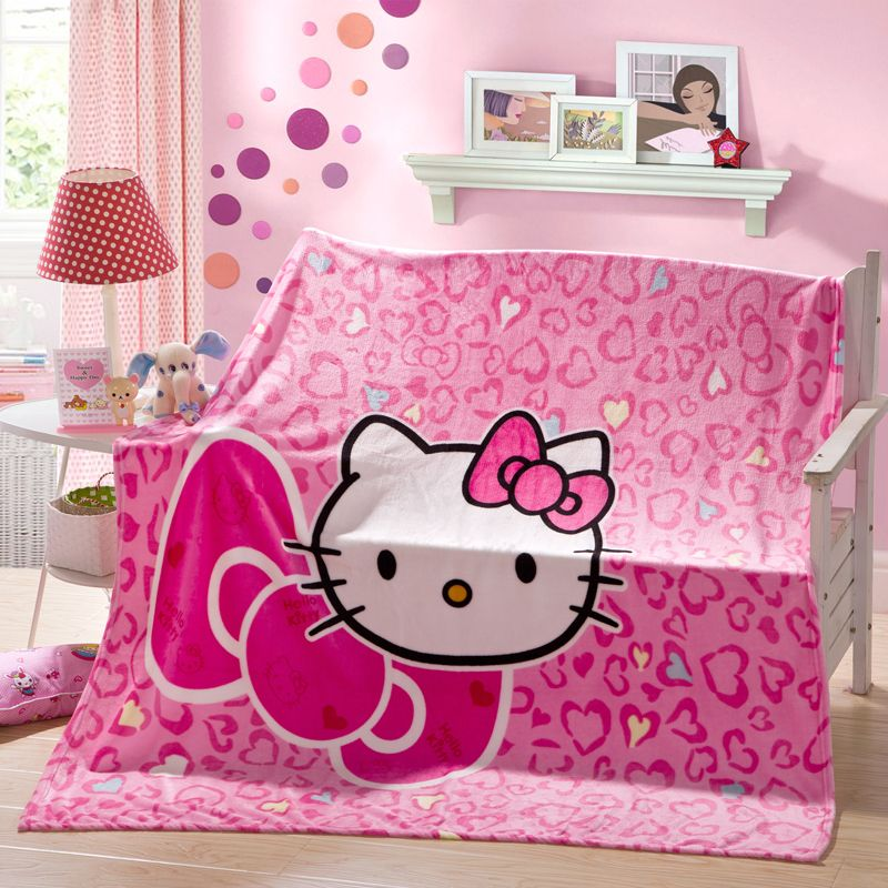 Hello Kitty Blanket Price 36 99 Free Shipping World Of Hello Kitty Http Worldofhellokitty Com Pink Prin Bed Throw Blanket Blanket Price Boys Bedding