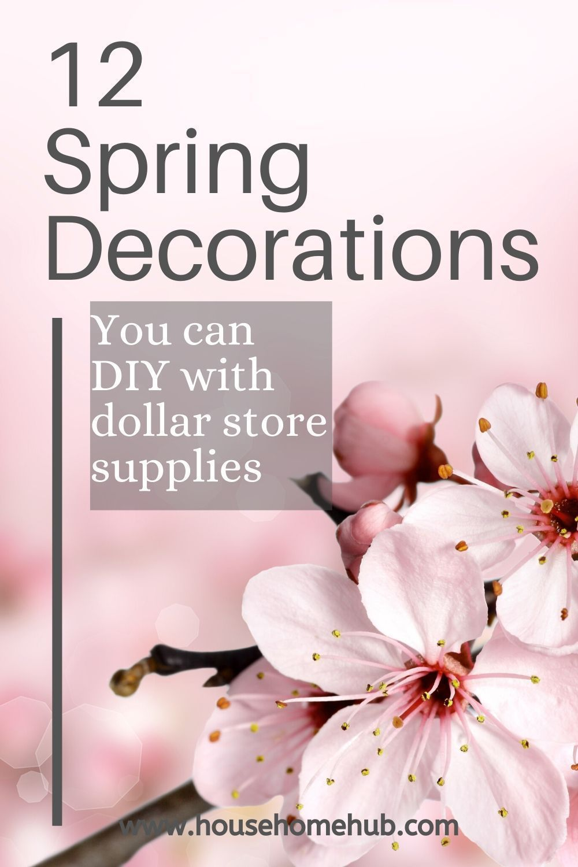 spring front porch decor dollar stores #spring #fr