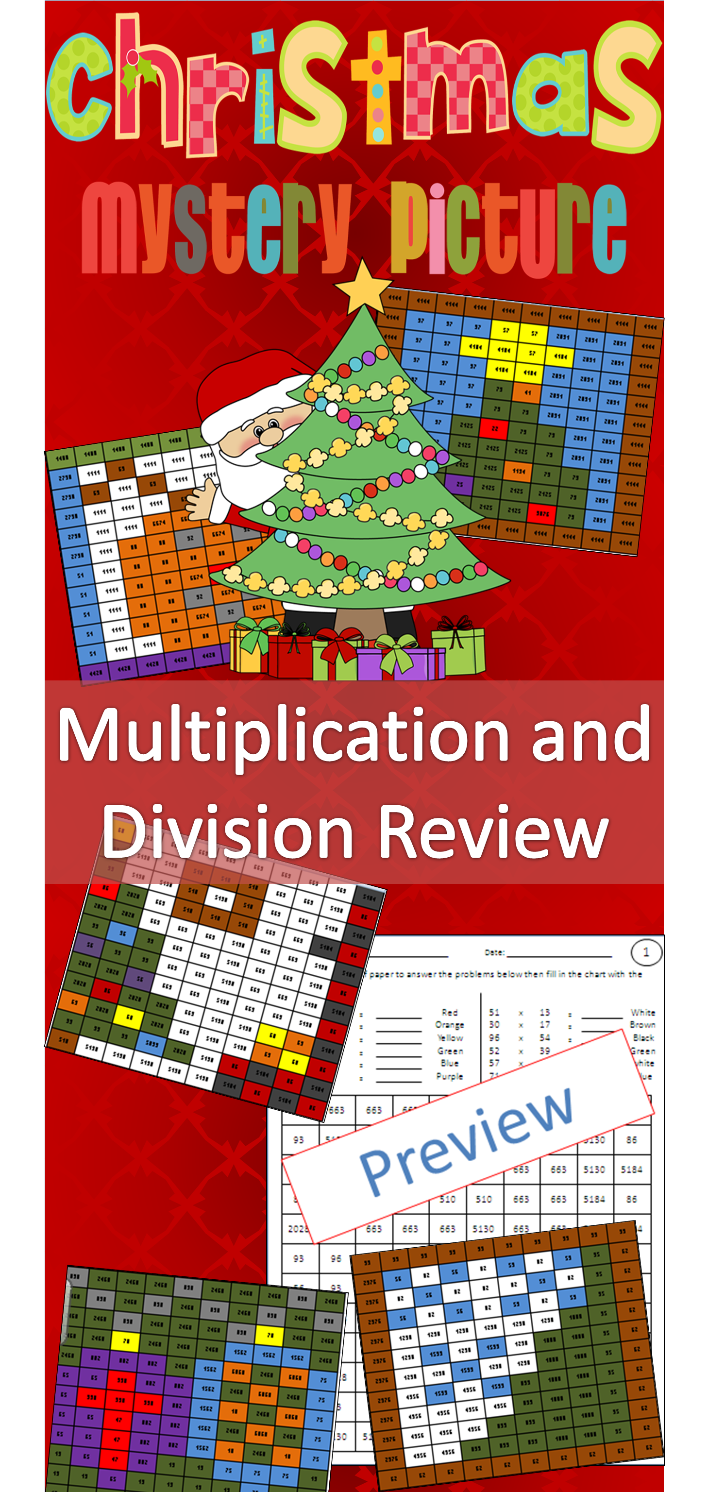 Christmas Multiplication And Division 2