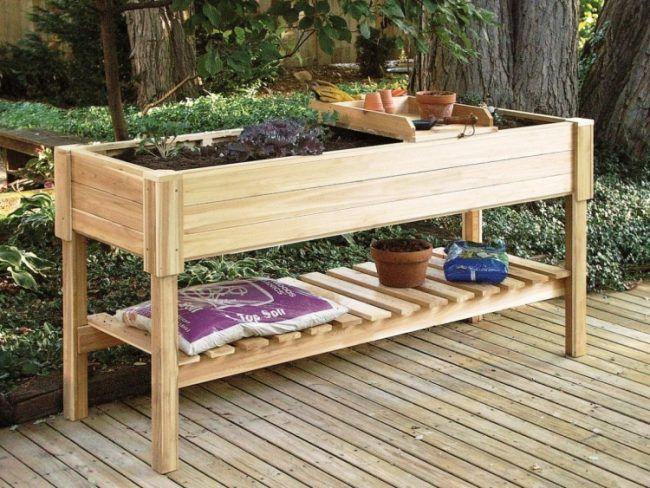 hochbeet balkon selber bauen bepflanzen holz arbeitshoehe terrassenfliesen hochbeete pinterest. Black Bedroom Furniture Sets. Home Design Ideas