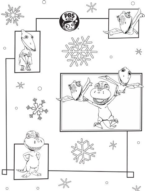 Pbs Kids Holiday Coloring Pages Printables Dinosaur Train Coloring Pages Coloring Pages For Kids