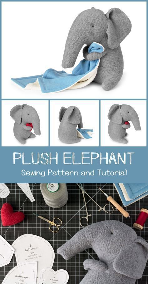 Photo of Plush Elephant Sewing Pattern