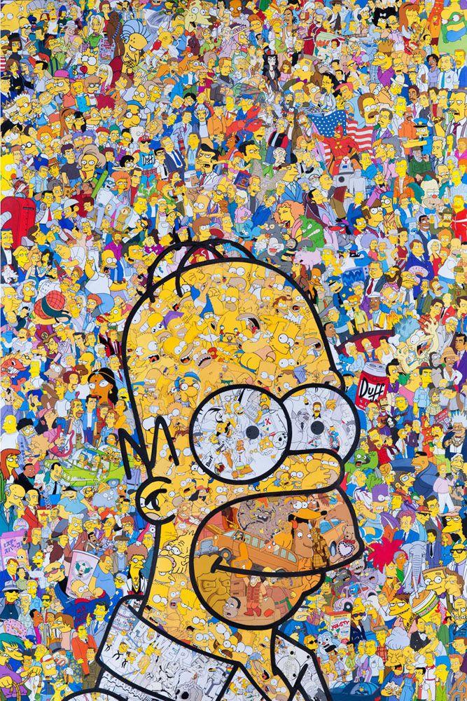Vivid Pop Culture Collages Simpsons Art Geek Art Art