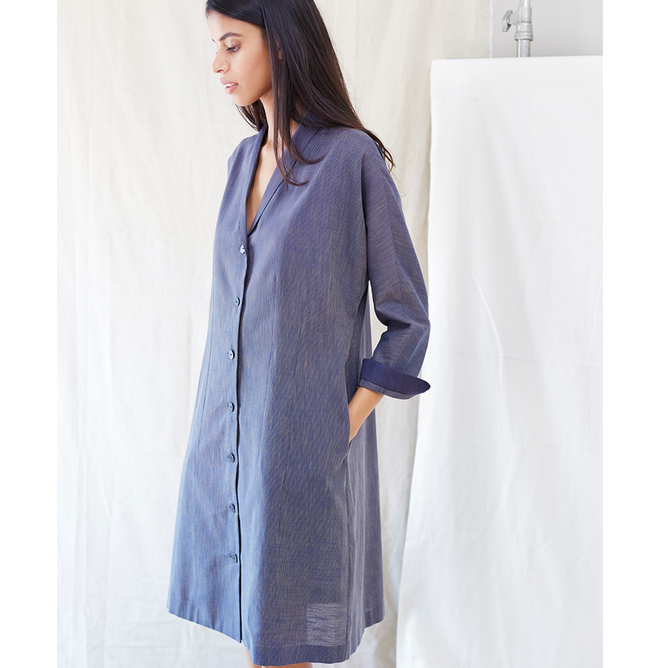 Anomaly Shawl Collar Dress - Not Everything To Everyone
