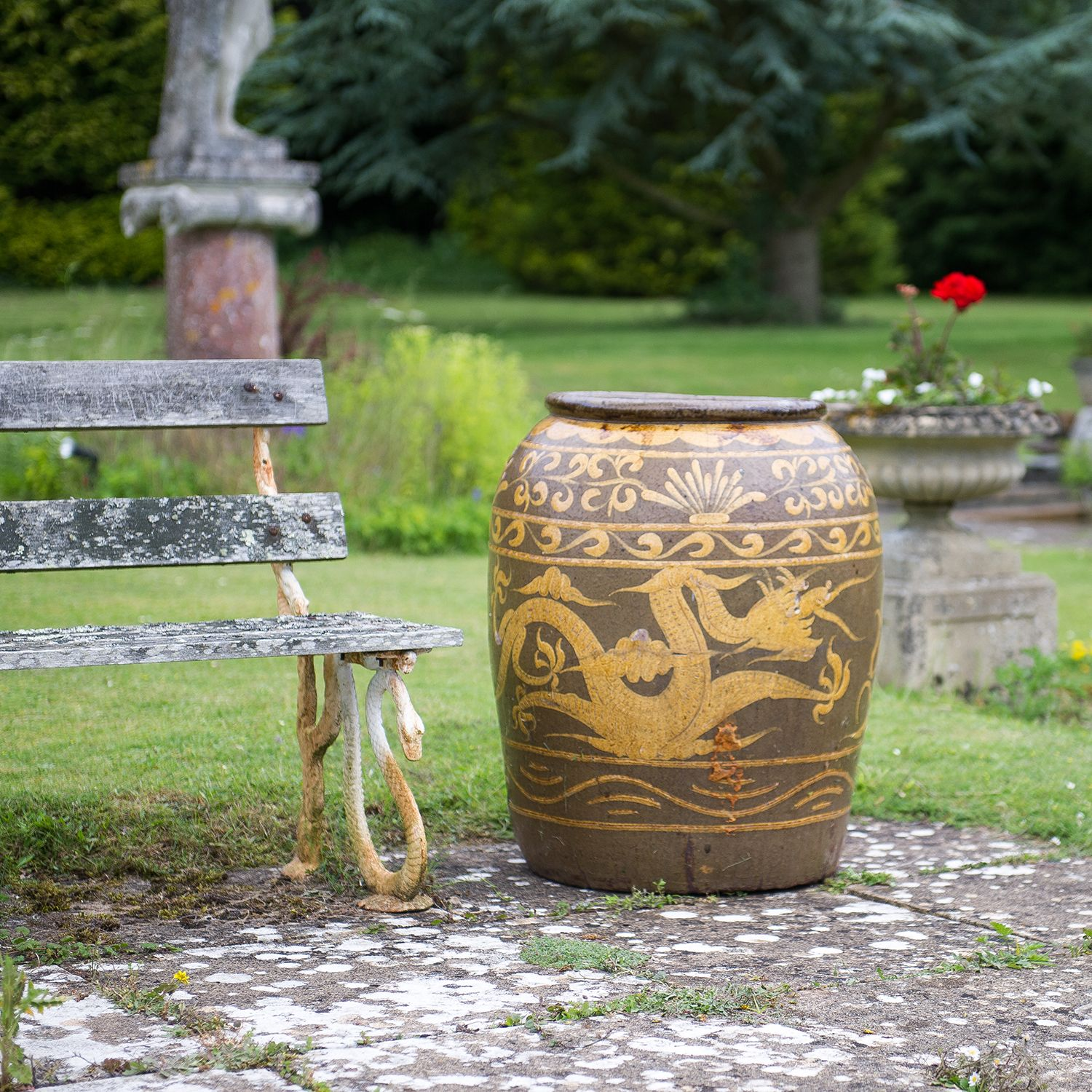 Dragon pot planter the traditional chinese dragon pot has long dragon pot planter the traditional chinese dragon pot has long been a part of the contemporary and traditional oriental garden workwithnaturefo