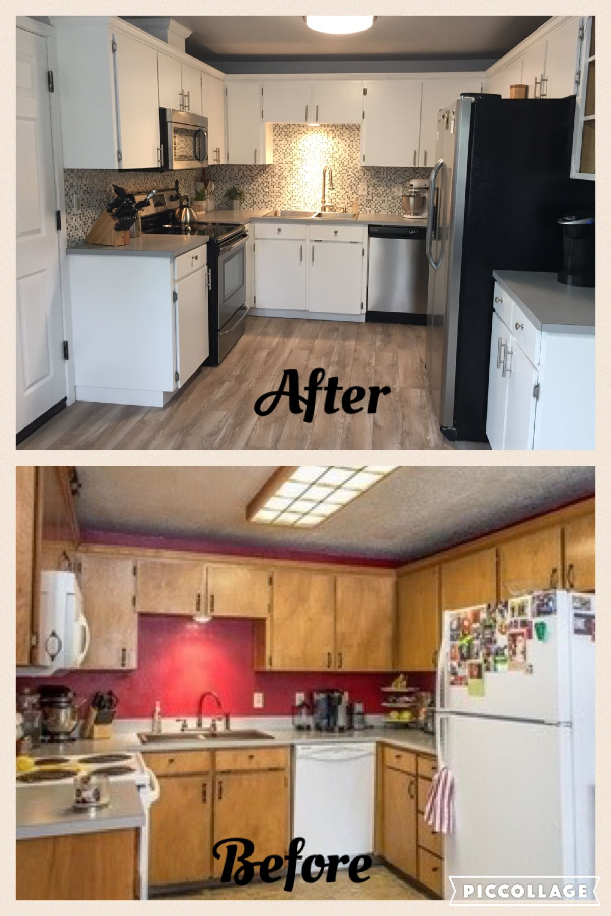 my diy kitchen remodel for around 5 000 painted the cabinets same counters new floors ap on kitchen remodel under 5000 id=89355