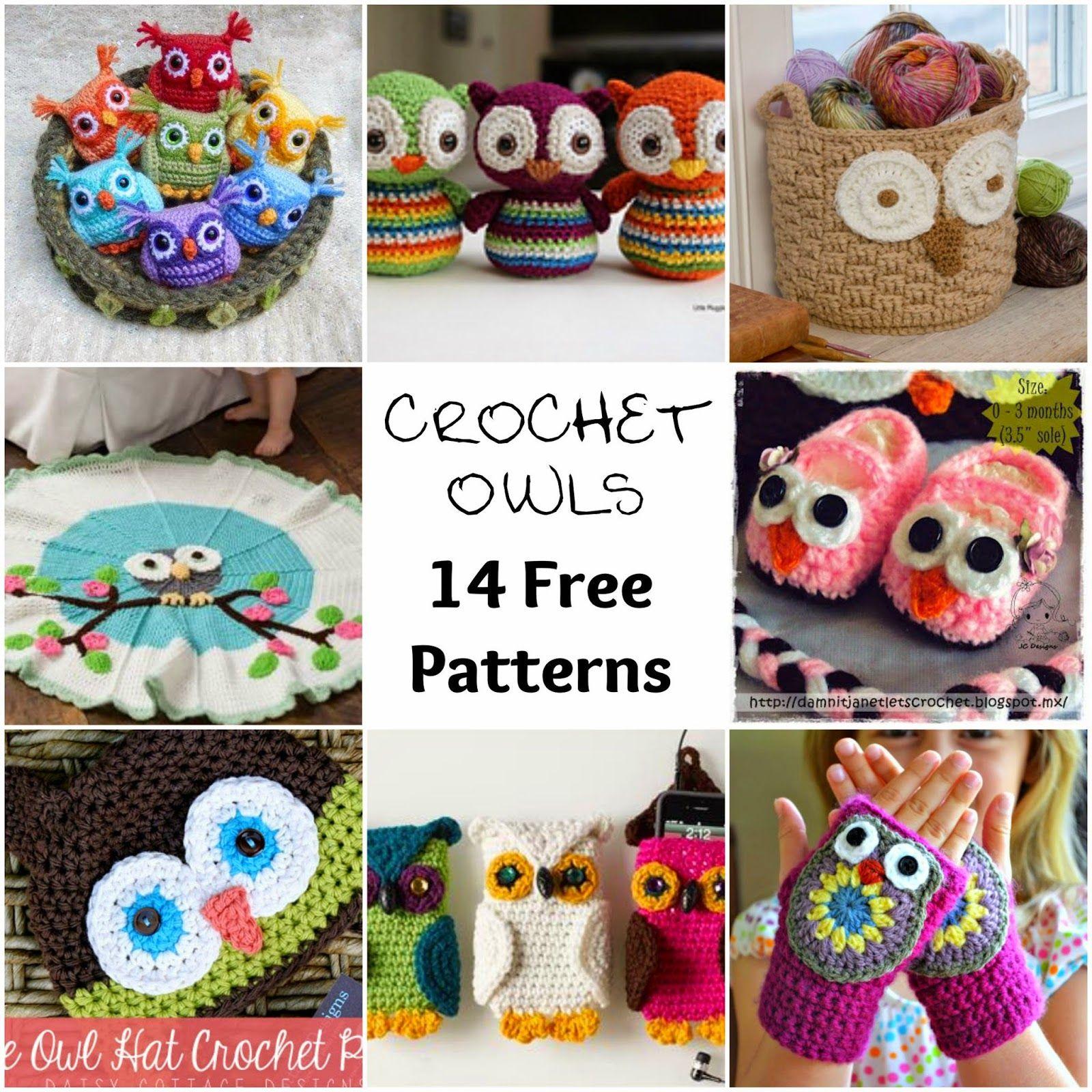 Free Crochet Pattern Round-Up - Owls - Free Crochet Pattern | buhos ...
