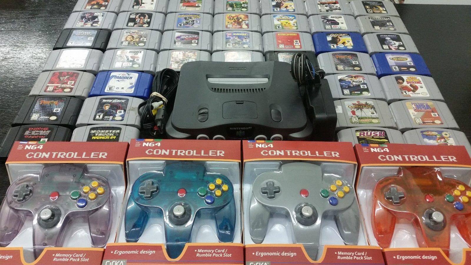 Details About Nintendo 64 N64 System Mario Kart Star Fox 007