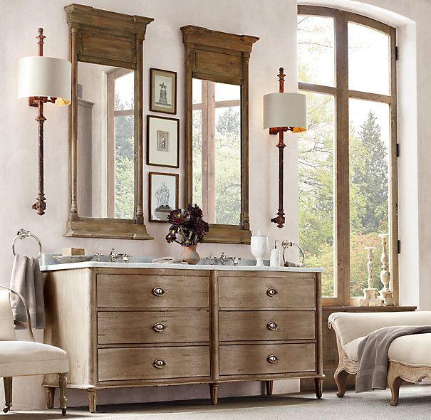 Another Lovely Bathroom From Restoration Hardware Gracious - Restoration hardware bathroom mirrors for bathroom decor ideas