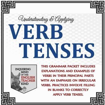 High School Grammar Packet Applying Verb Tenses Emphasis On