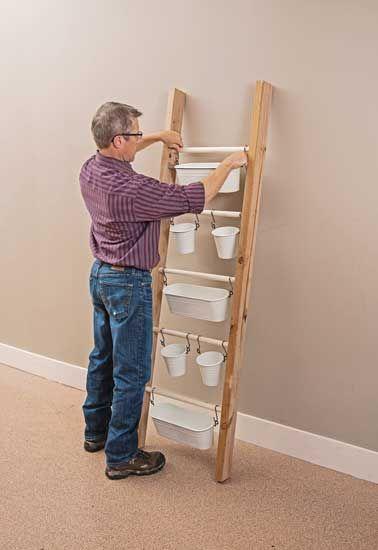 Antique Ladder Hanging Planter