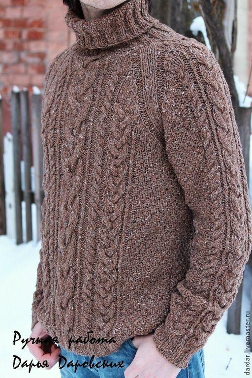 Купить Вязаный мужской свитер \