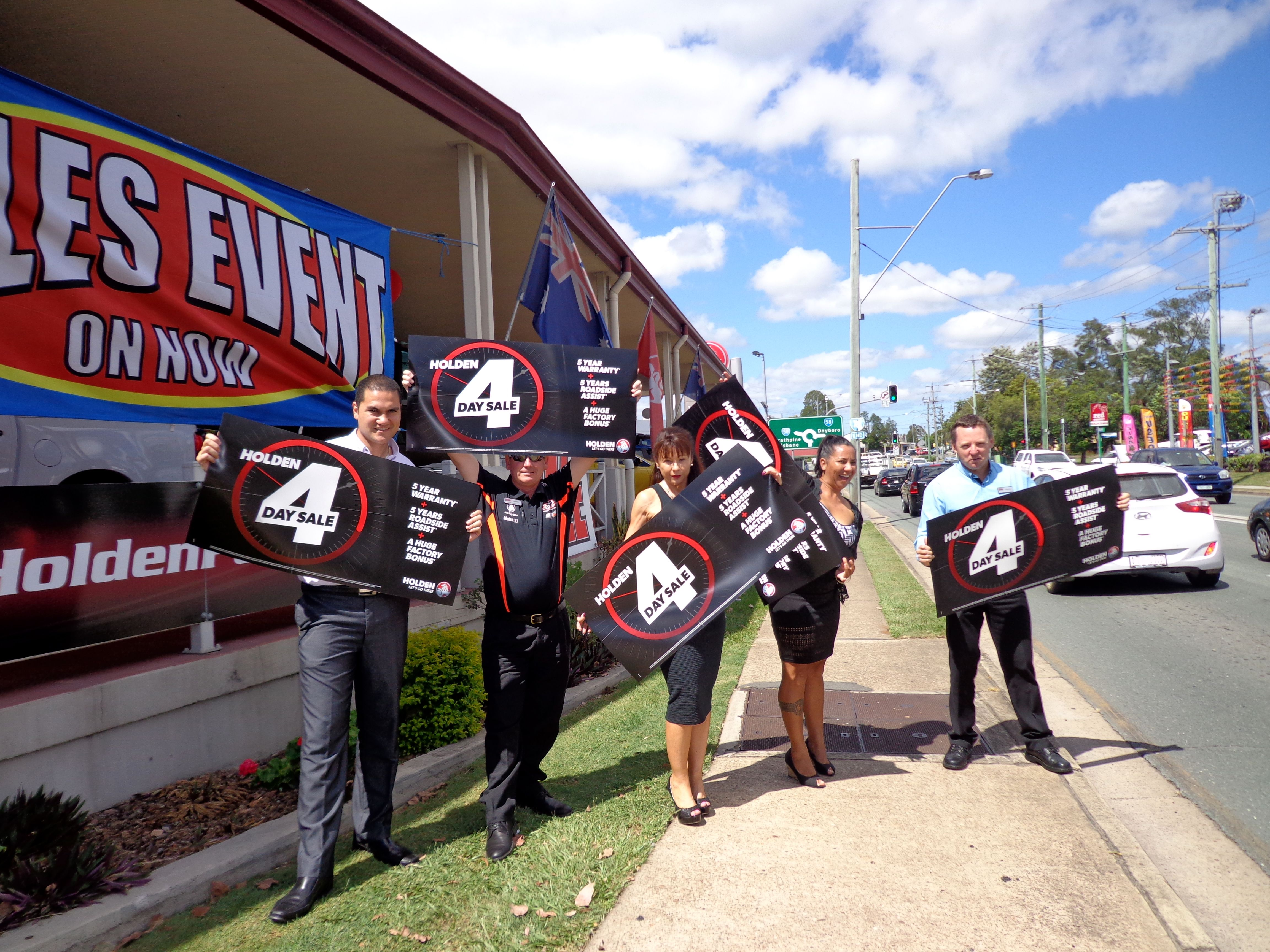 The Village Motors Holden 4 Day Sale! The team was having