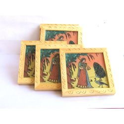 Wooden Coaster 6 Pcs Set 3 x3 Online shopping INDIA Buy