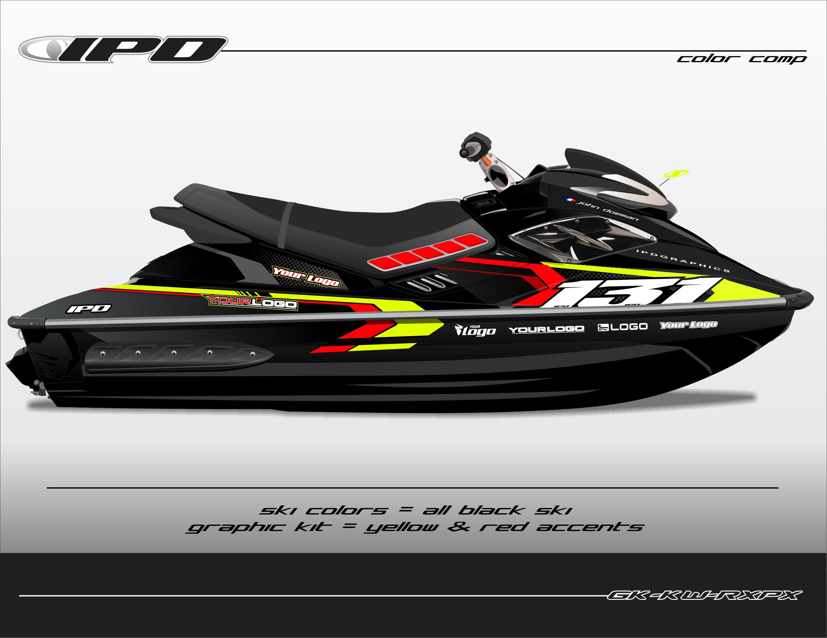 Sea Doo Gen 1 Rx Rxp Rxp X Graphics Kit Kw Design Graphic Kit Seadoo Jet Ski