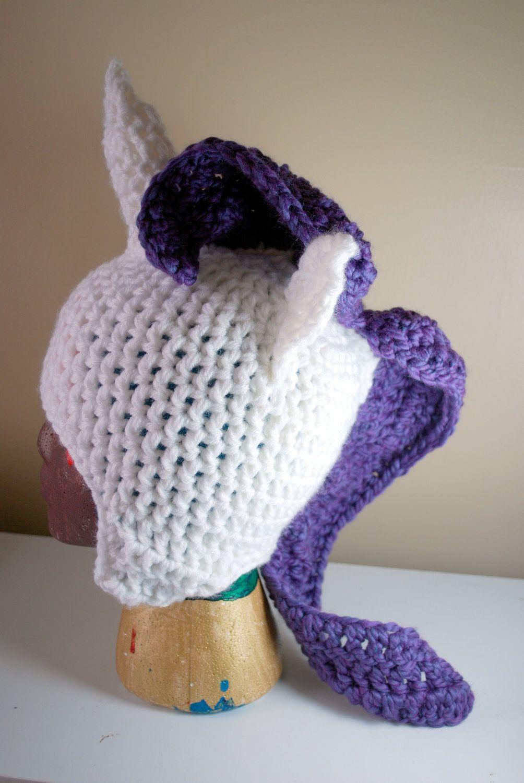 My Little Pony Friendship is Magic RARITY crochet hat. $28.00, via Etsy.